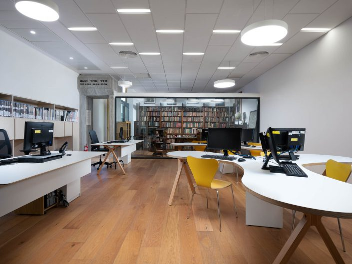 חדר עיון אחד העם בית אריאלה תל אביב | צילום אדריכלות ועיצוב פנים אמנון חורש