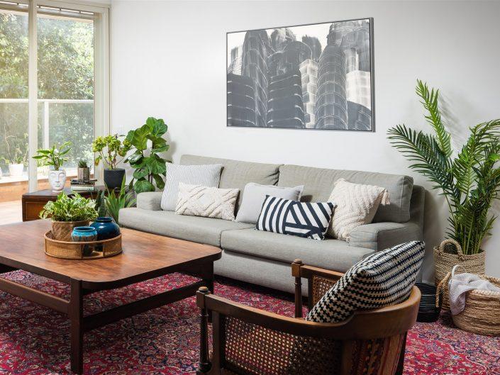 סלון בעיצוב ורד פרמן צילום עיצוב פנים ואדריכלות אמנון חורש