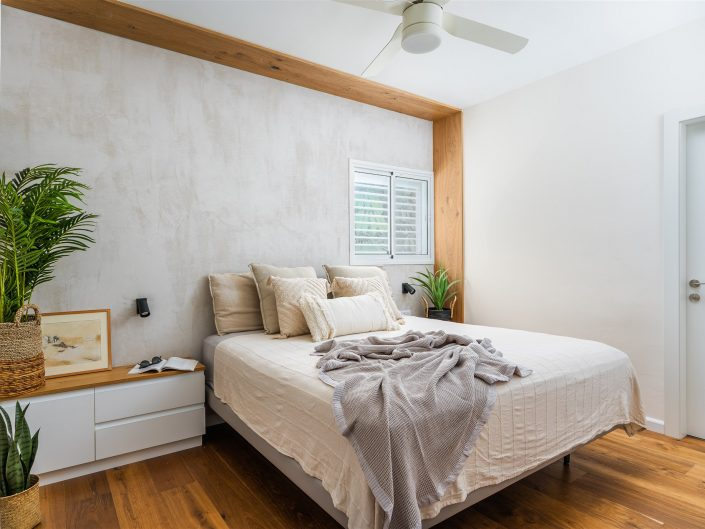 חדר שינה בעיצוב ורד פרמן צילום עיצוב פנים ואדריכלות אמנון חורש